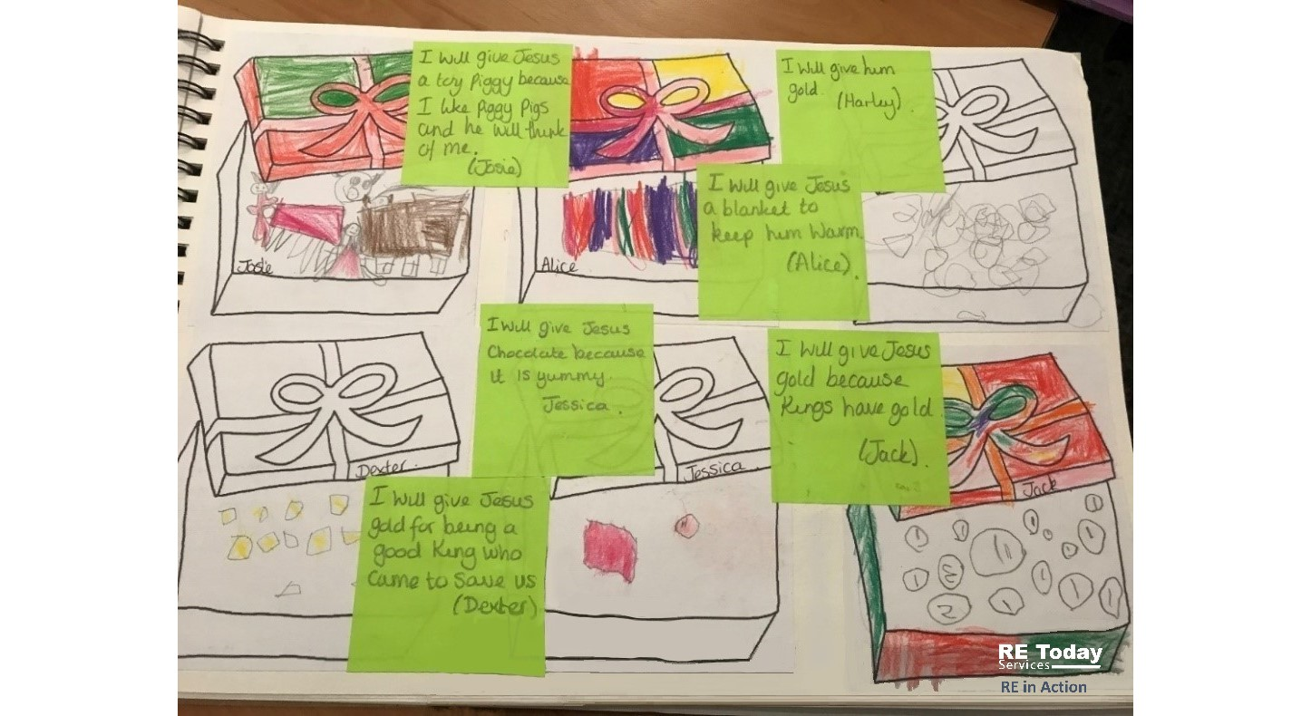Example artwork: What gifts would we give Jesus?