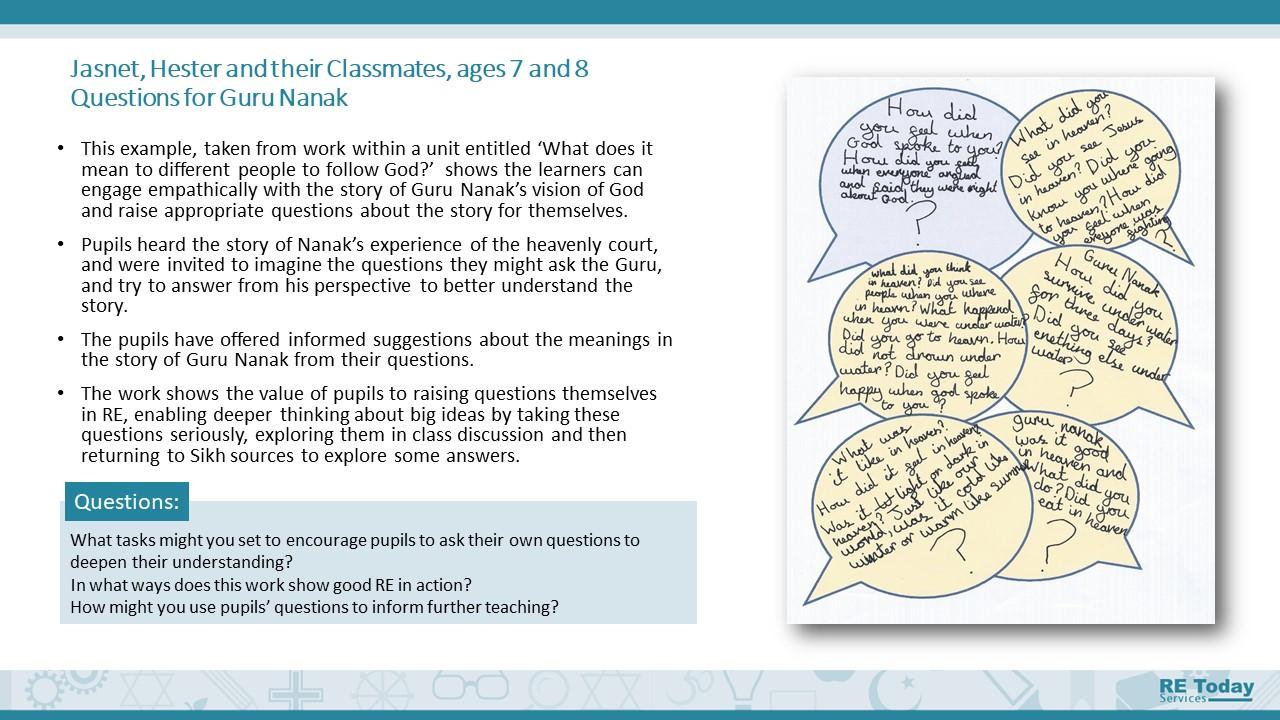 Ages 7-9 support presentation sample slide