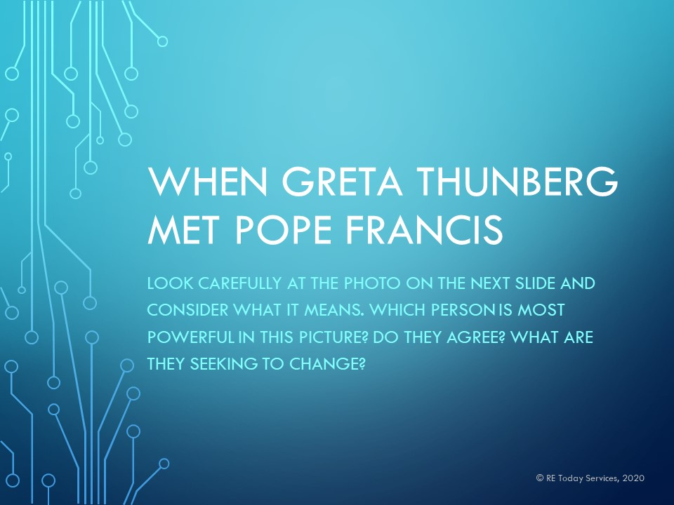 Slide from Greta and Pope presentation