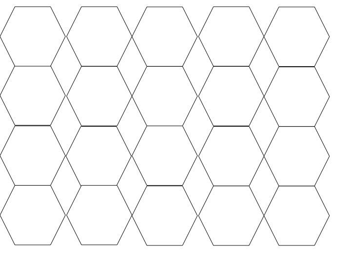 Blank hexagon sheet
