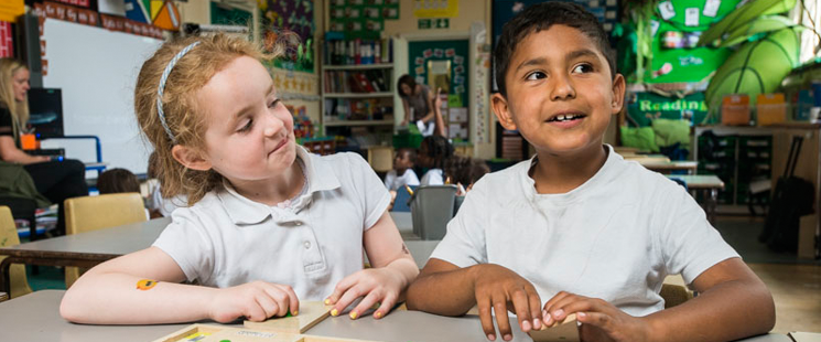 Primary pupils in the classroom