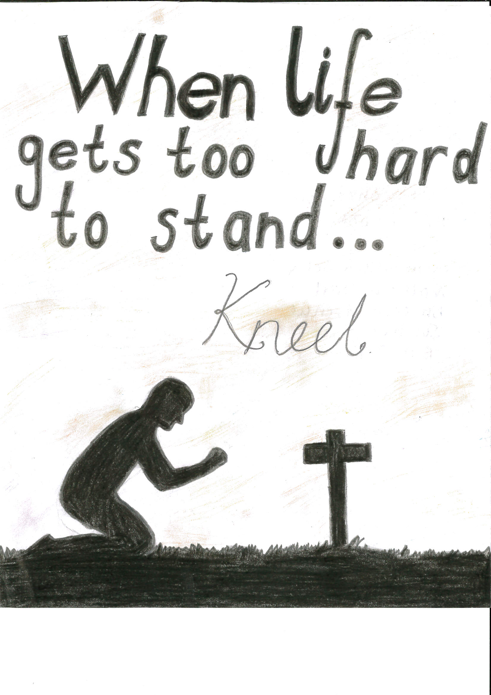 When Life Gets Too Hard To Standkneel